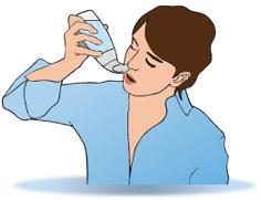 Irrigation douce : utiliser entre 60 et 120 ml par narine