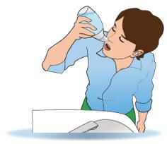 Irrigation douce : se pencher au-dessus d'un lavabo